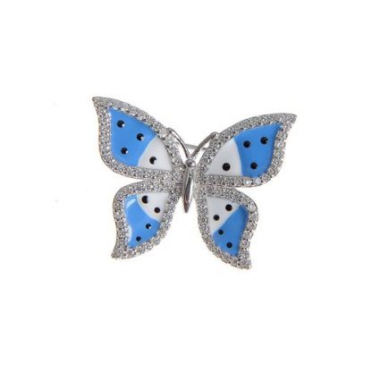 Brosa fluture albastru
