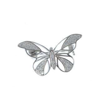 Brosa fluture argint