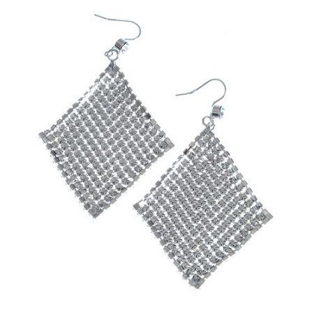 Cercei argintii cu plasa maleabila