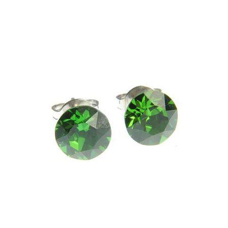 Cercei cu cristal Swarovski verde