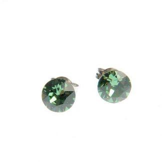 Cercei cu cristal Swarovski verde deschis