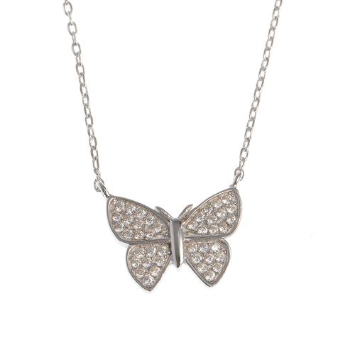 Colier argint cu fluture