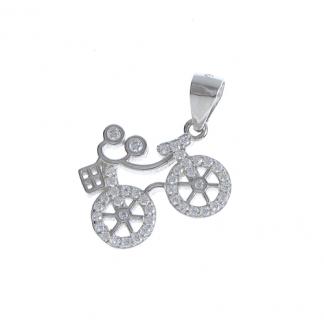 Pandantiv bicicleta argint - Martisor