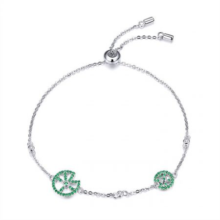 Bratara din argint 925 Fashion Green Tree