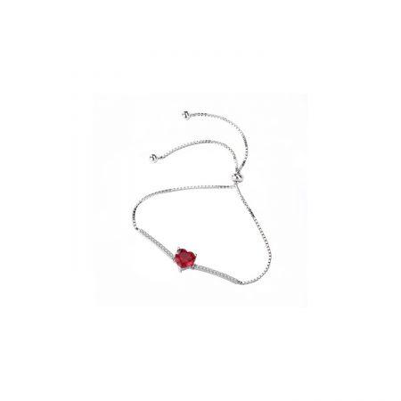 Bratara din argint Romantic Red Heart