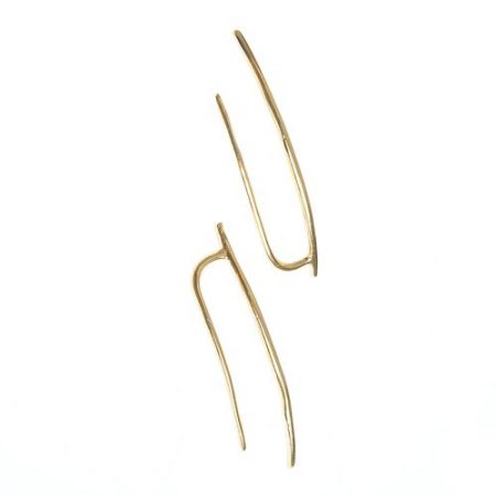 Cercei aurii minimalisti