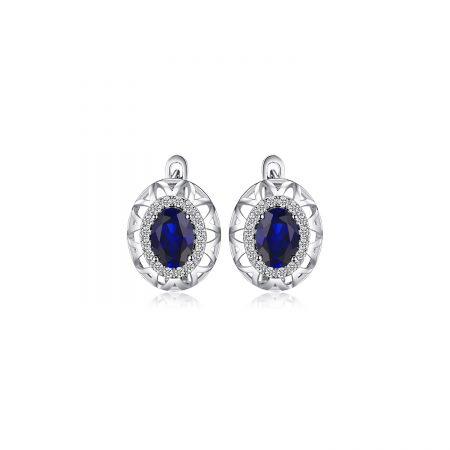 Cercei din argint Amazing Sapphire