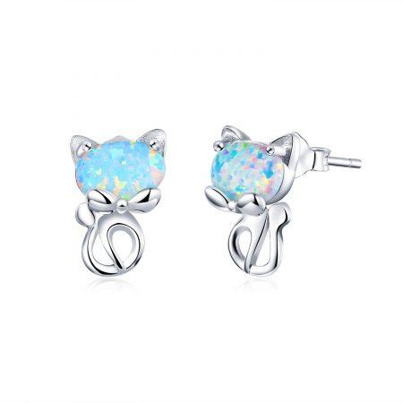 Cercei din argint Opal Silver Cats