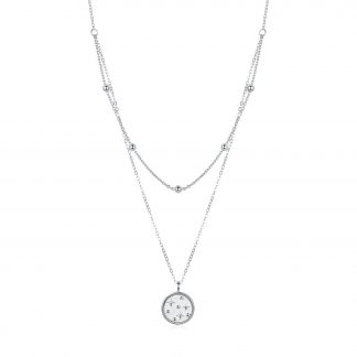 Colier din argint Double Layer Coin Chain