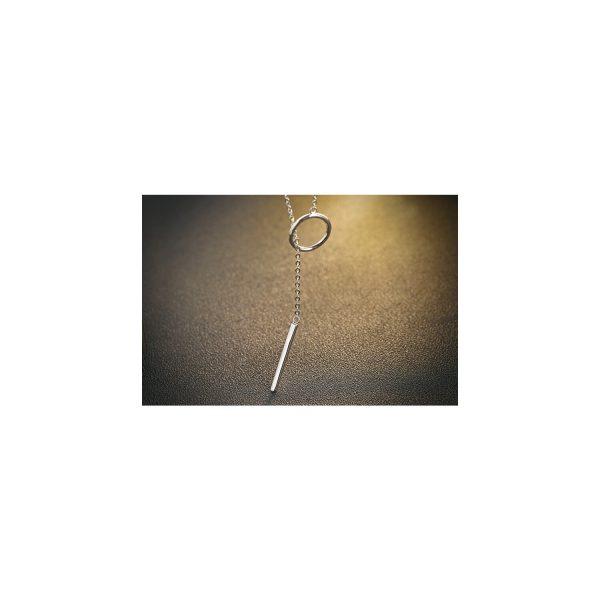 Colier din argint Simple Geometric
