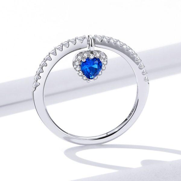 Inel din argint Blue Heart Ring