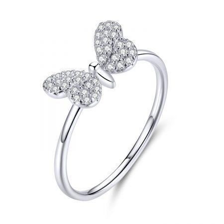 Inel din argint Dazzling Butterfly