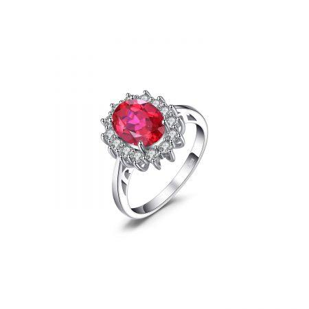 Inel din argint Elegant Ruby