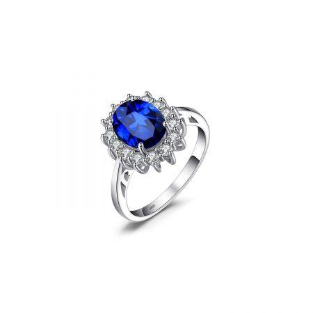 Inel din argint Kate's Elegant Sapphire