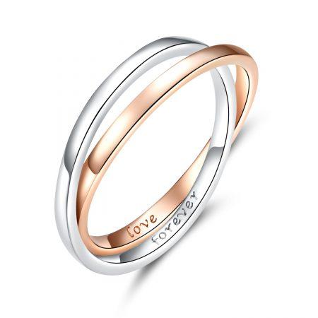 Inel din argint Love Forever Duet