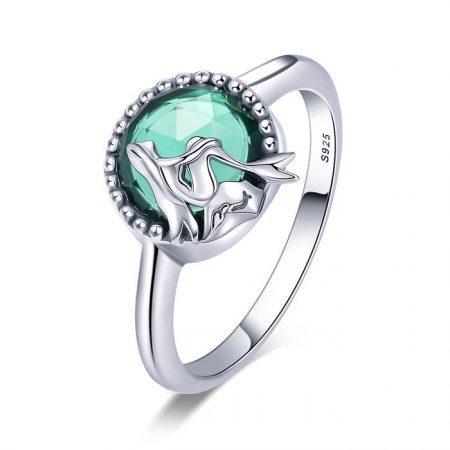 Inel din argint Silver Glass Mermaids