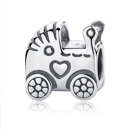 Talisman din argint Baby Carriage