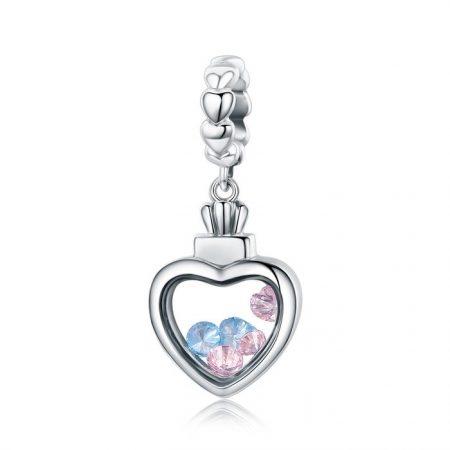 Talisman din argint Dancing Hearts