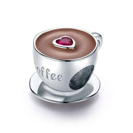 Talisman din argint I Love Coffee