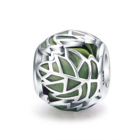 Talisman din argint Jungle Leaf
