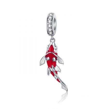 Talisman din argint Koi Fish