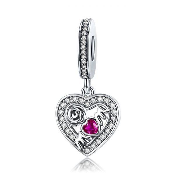 Talisman din argint Love For Mom