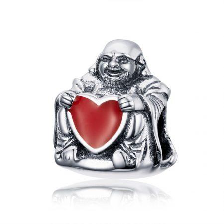 Talisman din argint Loving Buddha