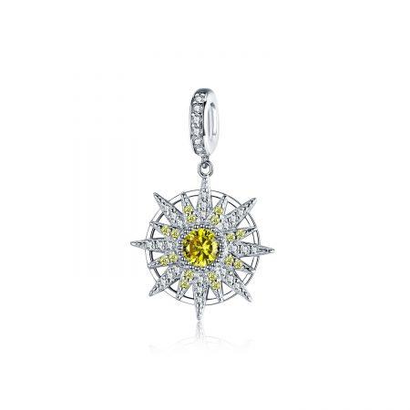 Talisman din argint Perfect Crystal Sun