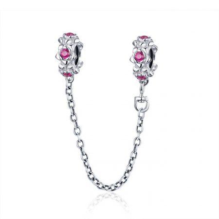 Talisman din argint Pink Garland