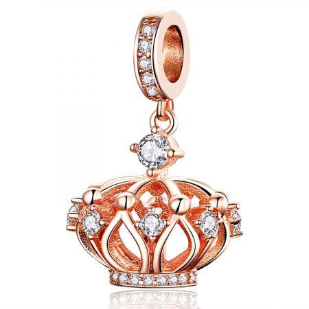 Talisman din argint Rose Gold Crown