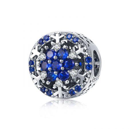 Talisman din argint Winter Blue Bead