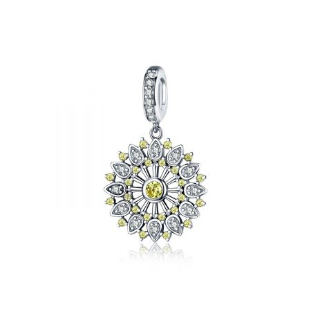 Talisman din argint Yellow Crystal Sun