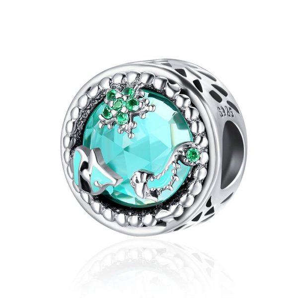 Talisman din argint cu Diversitate Marina
