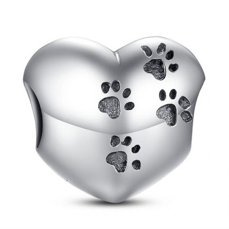 Talisman din argint cu Urme de animalut